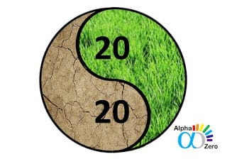 Earth day 2020 - Yin-Yang - Drought and blossom, both are important for the earth