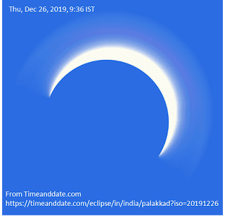 Photo of eclipse from Time and Date - December 26, 2019