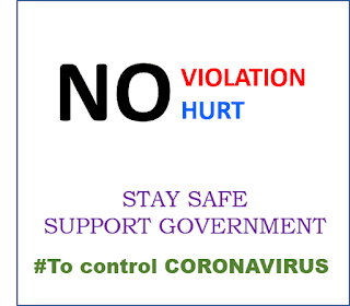 No violation, no hurt - Stay safe, Support government